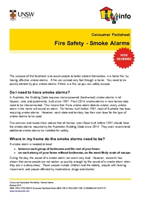 Thumbnail of 'Consumer Factsheet: Fire Safety - Smoke Alarms' document