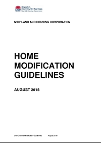 Thumbnail of 'Home Modification Guidelines 2018' document