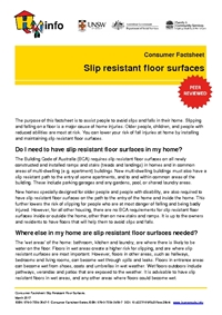 Thumbnail of 'Consumer Factsheet: Slip resistant floor surfaces' document
