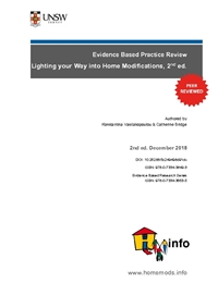 Evidence Based Practice Review: Lighting your Way into Home Modifications, 2nd ed.