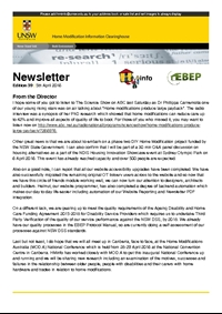 HMinfo Quarterly Newsletter - Edition 39. April 2016