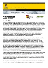 HMinfo Quarterly Newsletter - Edition 40. July 2016